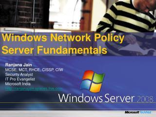 Windows Network Policy Server Fundamentals