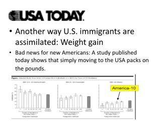 Another way U.S. immigrants are assimilated: Weight gain