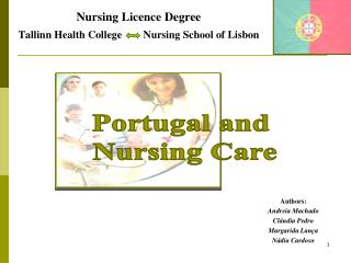 Nursing Licence Degree Tallinn Health College Nursing School of Lisbon