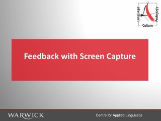 Feedback with Screen Capture