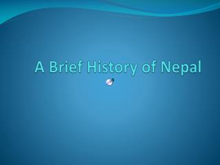 A Brief History of Nepal