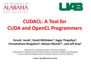 CUDACL: A Tool for CUDA and OpenCL Programmers