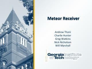 Meteor Receiver