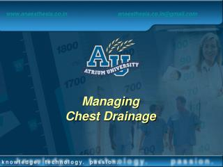 Managing Chest Drainage