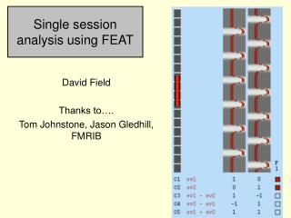 Single session analysis using FEAT