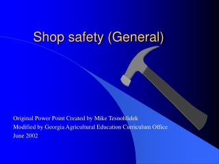 Shop safety (General)