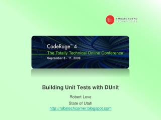Building Unit Tests with  DUnit