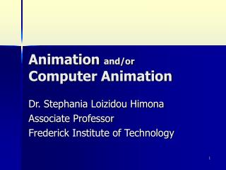 Animation  and/or  Computer Animation