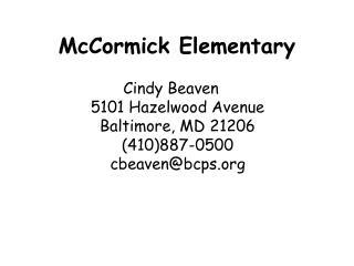 McCormick Elementary