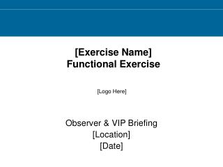 [Exercise Name]  Functional Exercise