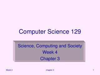 Computer Science 129