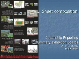 ….. Sheet composition