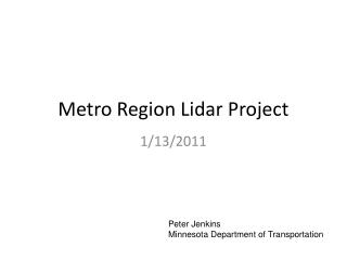 Metro Region Lidar Project