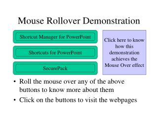 Mouse Rollover Demonstration