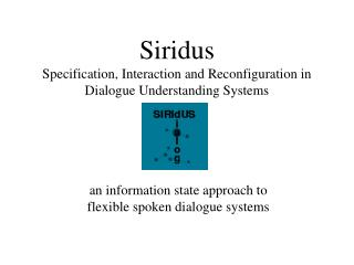 Siridus Specification, Interaction and Reconfiguration in Dialogue Understanding Systems