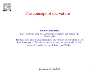 The concept of Curvature