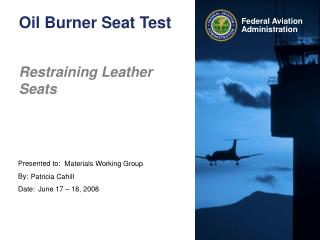 Oil Burner Seat Test