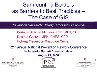 Surmounting Borders  as Barriers to Best Practices –  The Case of GIS