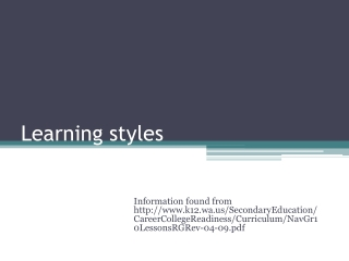 learning styles  how to use them