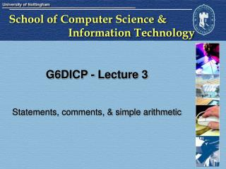 G6DICP - Lecture 3