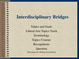 Interdisciplinary Bridges