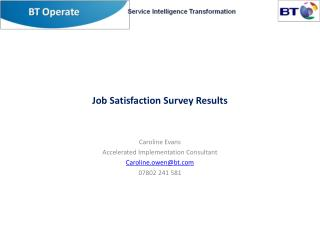Job Satisfaction Survey Results