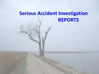 Serious Accident Investigation 			REPORTS