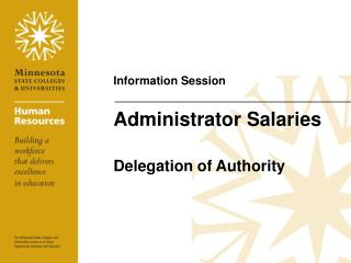 Administrator Salaries Delegation of Authority