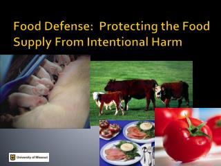 Food Defense:  Protecting the Food Supply From Intentional Harm