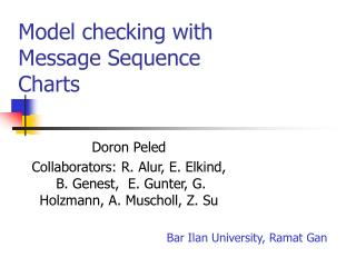 Model checking with Message Sequence Charts