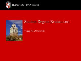 Student Degree Evaluations