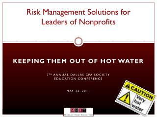 Risk Management Solutions for Leaders of Nonprofits