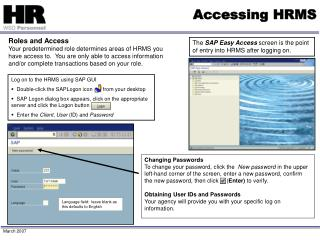 Accessing HRMS