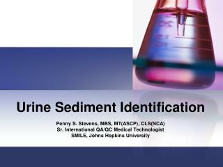 Urine Sediment Identification
