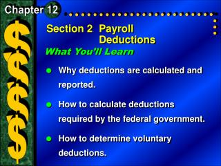 Section 2	Payroll Deductions