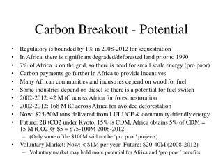 Carbon Breakout - Potential