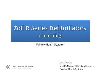 Zoll  R Series Defibrillators eLearning