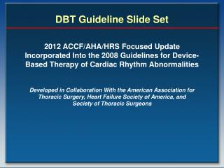 DBT Guideline Slide Set