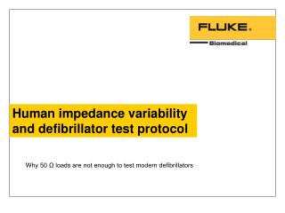 Human impedance variability and defibrillator test protocol
