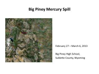 Big Piney Mercury Spill