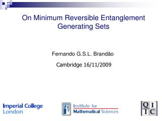 On Minimum Reversible Entanglement Generating Sets