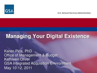 Managing Your Digital Existence