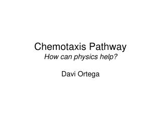 Chemotaxis Pathway How can physics help?