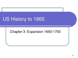 US History to 1865