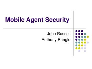 Mobile Agent Security
