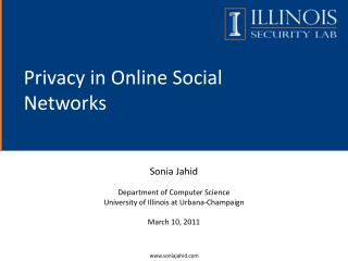 Privacy in Online Social Networks