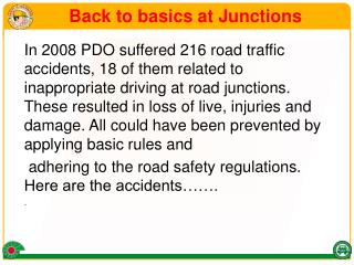 Back to basics at Junctions