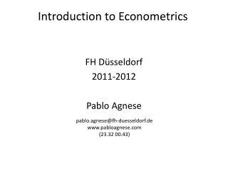 FH Düsseldorf 2011-2012 Pablo Agnese