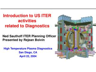 Introduction to US ITER activities  related to Diagnostics