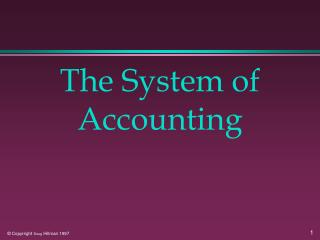 The System of Accounting